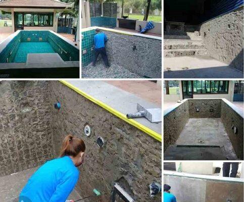 chống thấm hồ bơi trên sân thượng