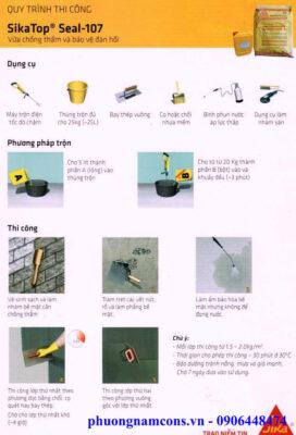 Quy trình thi công sikatop Seal 107