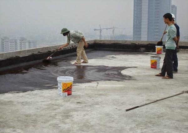 chống thấm sàn mái bằng Flinkote