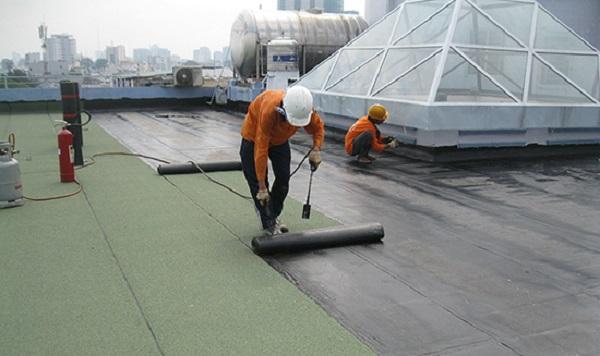 chống thấm sàn mái bằng màng khò