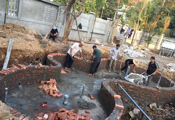 xây bể cá cảnh