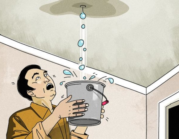 cách xử lý trần nhà bị thấm nước