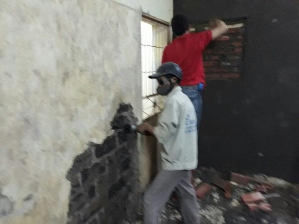 trát lại tường nhà