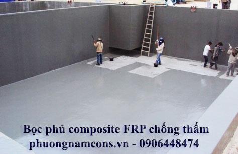 Bọc phủ composite FRP chống thấm